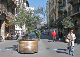 Genève, Plainpalais, rue Patru : La liaison entre l'Université et le coeur du quartier à l'honneur.