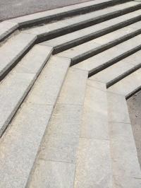 Rigi Kaltbad (LU) : Détail des escaliers, particulièrement bien conçus.